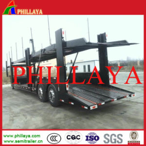 Single Wheel Two Axles Transport Car Carrier Semi Trailer pictures & photos