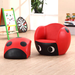 Basketball Kids Sport Furniture/Children Leather Sofa with Ottoman (SXBB-27) pictures & photos
