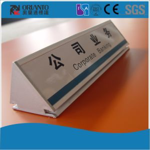 Double Sides Aluminium Profile Table Sign