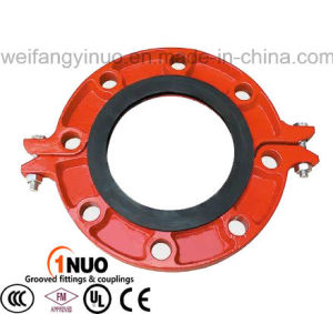 Standard Ductile Iron Pn16 Grooved Flange with FM/UL/Ce Certificates pictures & photos