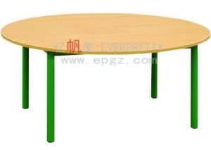 Oval-Shaped Children Furniture School Wooden Table pictures & photos
