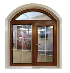 Wood Skin Printed Aluminum Swing Window Insulating Glass Aluminium Swing Window pictures & photos