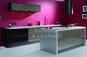 Hot Sale Customized High Glossy Wood Kitchen Cabinet (#M2012-25) pictures & photos