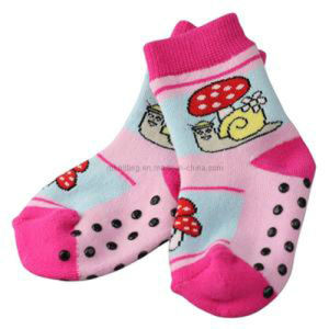 Full Terry Baby Socks with Jacquard and Anti-Slip Dots Bs-46