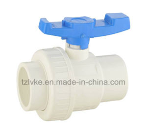 PVC Single Union Ball Valve for Agriculture with ISO9001 (DIN) pictures & photos