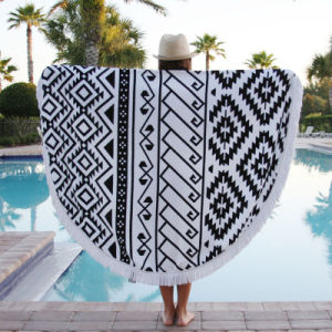 Cotton Printed Round Beach Towel pictures & photos