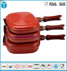 Happy Call Cast Aluminum Double Sided Grill Ceramic Pans