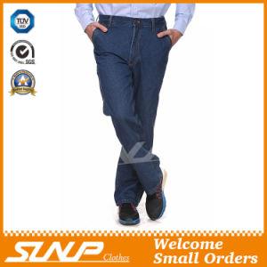 Men′s Long Washed Denim Fit Workwear Jeans