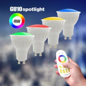 GU10 WiFi RGB LED Spotlight Christmas Decoration 4W RGBW WiFi and Remote Control LED Spot Light pictures & photos