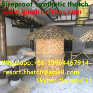 Fireproof Artificial Africa Thatch Roof Bali Tiki Bar Hawaii Tiki Hut Synthetic Thatched Cottage Islands Resorts Thatched House Thatch pictures & photos