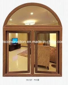 Newest Design Wooden Color UPVC Casement Windows pictures & photos