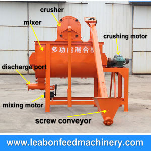 China 500kg/H Horizontal Feed Grinder Mixer pictures & photos