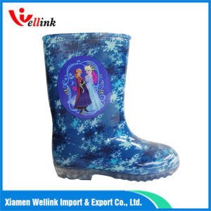 Children′s Cartoon Print Rubber Boots pictures & photos