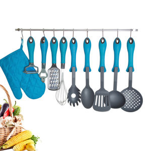 Heat Resistant Nylon Colorful Kitchen Utensils Nylon Cooking Utensils Set