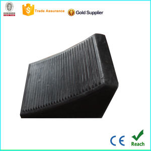 Traffic Facility Rubber Wheel Chock by Direct Sale pictures & photos