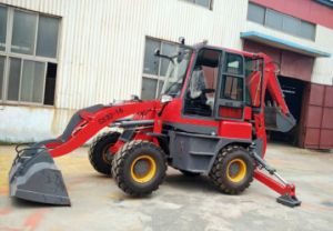 CS30-16 Compact CE Towable Loader Backhoe Loader with Snow Sweeper pictures & photos