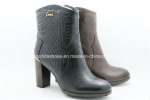 Comfort High Heels Fashion Women Leather Boots pictures & photos