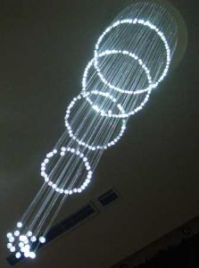 Optical Fiber Chandelier