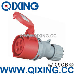 Waterproof Cover IP44 16A AC 380-415V Industrial Plug Connector pictures & photos