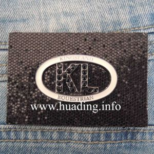 Customized Fabric Leather Patch with Plate (PA-13) pictures & photos