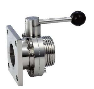 Stainless Steel Square Flange Thread Butterfly Valve (CF8826)