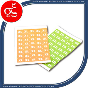 Garment Clothes Adhesive Size Stickers for Clothing Tag pictures & photos