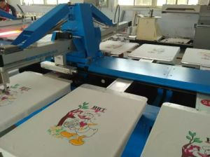 Oval Automatic Garment Screen Printing Machine pictures & photos
