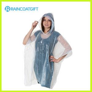 Promotional Clear PE Disposable Raincoat (RPE-020A) pictures & photos