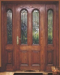 American Standard Oak Entrance Glass Door for Villa