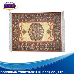 Custom Printed Persian Style Non Slip Rubber Mouse Rug pictures & photos