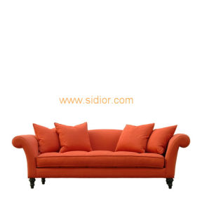(CL-6625) Classic Hotel Restaurant Lobby Furniture Wooden Fabric Leather Sofa pictures & photos