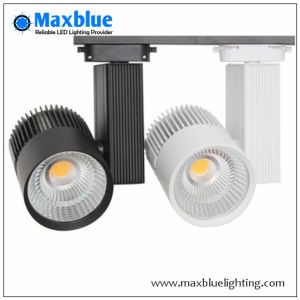 White/Black/Silver Aluminum Housing COB LED Track Spotlight/LED Track Lighting pictures & photos