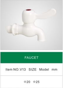 Plastic Faucet, Water Fitting, Pluming Fittings Valve (V13) pictures & photos