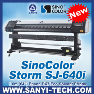 1.6m Sticker Printing Machine, Sinocolor Storm Sj640I, with Epson Dx7 Head, 2880dpi pictures & photos