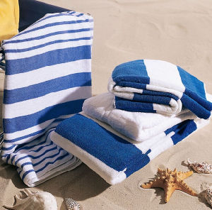 100% Cotton Stripe Beach Towel Hotel Towel pictures & photos