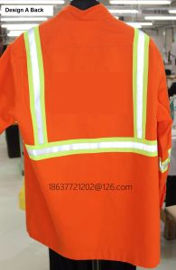 Work Pants and Shirt with Reflective Tapes T/C Fabric Safety Uniform pictures & photos
