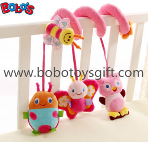 Cute Pink Animal Style Plush Baby Bed Hanging Toys with Music Box in High Quanlity pictures & photos