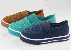 Kid/Child Fashion Casual Boat/Slip-on Injection Canvas Shoes pictures & photos