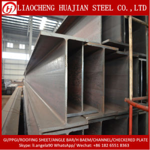 Hot Rolled Ss400 A36 Black Steel Beam with H Type pictures & photos