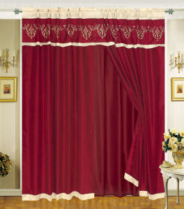 Embroidered Window Curtain 05