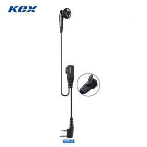 2 Wire 2-Way Radio Ear Bud Lapel Microphones