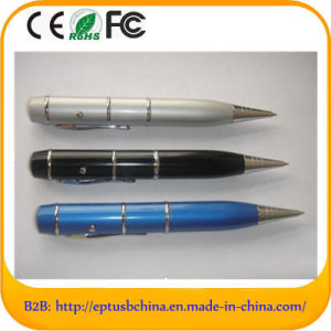 Pen Shape USB Flash Drives with Laser Logo for 1GB/2GB/4GB/8GB/16GB/32GB pictures & photos