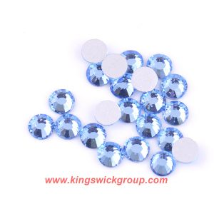 High Quality Crystal Glass Flatback Loose Round 14 Facet Cuts Non Hotfix Rhinestones for Nails pictures & photos