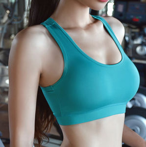 Pure Color Blank Bodybuilding Wholesale Athletic Wear Sports Lady′s Bra pictures & photos