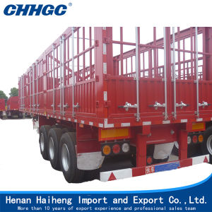 Tri-Axle High Wall Rail Fence Trailer for Sale