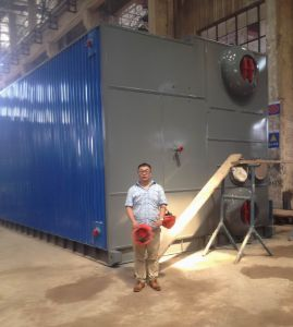 Szs Gas Fired Water Tube Steam Boilers with D Type 70 Years Experience