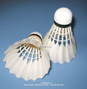 White Goose Feather Shuttlecock with 3 Layers Cork Wood Head for Training and Sports pictures & photos