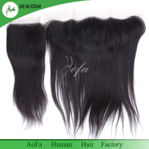 9A Brazilian Virgin Hair Straight Silk Base Frontal with 2/3 Bundles Straight Hair Silk Frontal Closure pictures & photos