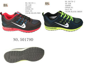 No. 50179 PU Outsole Men Sport Stock Shoes pictures & photos