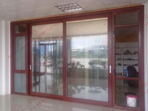 High-Class Aluminium Sliding Door with Built-in Magnetic Shutters (BHA-DS05) pictures & photos